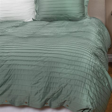 coyuchi pleated sateen duvet cover king organic cotton
