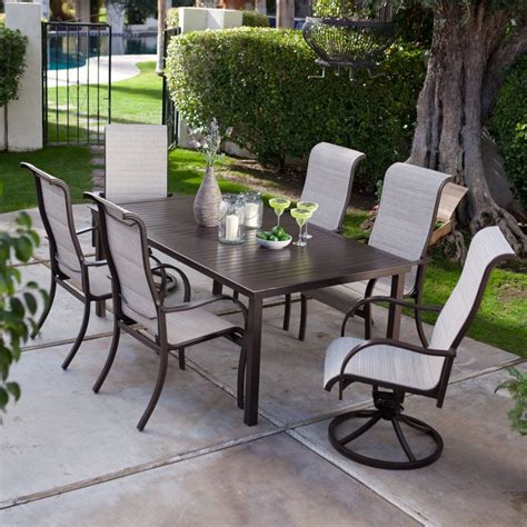 Patio Dining Sets Sling To It Deluxe Padded Sling Aluminum