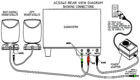 xps 8500 and altec lansing acs340 speaker hookup audio
