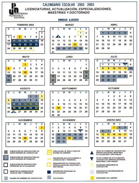 Calendario 2003 Completo Upn Calendario 2002 2003