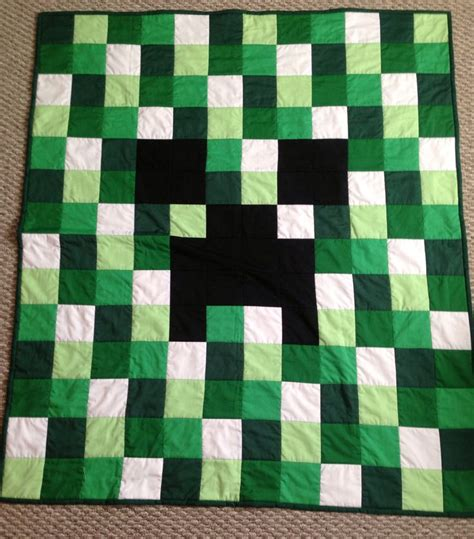 minecraft creeper quilt pattern