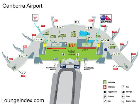 sydney airport floor plan cbr canberra airport guide terminal map airport guide