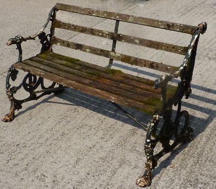 old garden benches antique coalbrookdale serpent grape pattern cast iron garden bench 237205