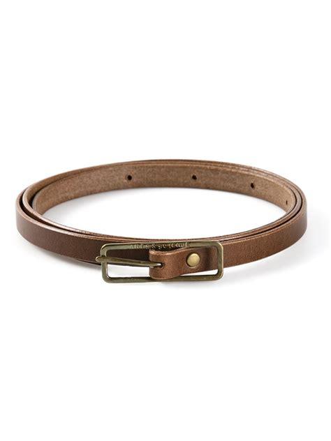 arts science belt in brown lyst