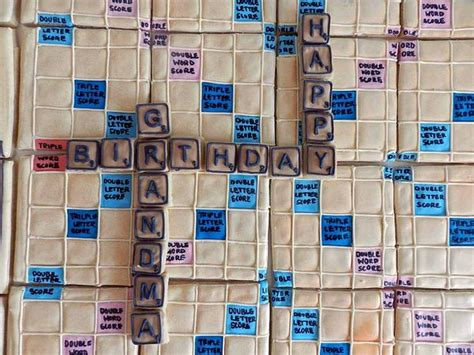 squares on a scrabble board flour box bakery deluxe cookie edition scrabble