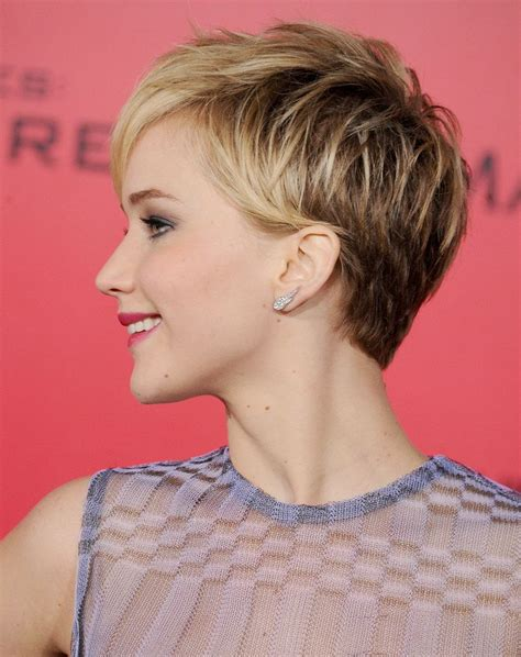 instructions for jennifer lawrece short haircut jennifer lawrence s pixie