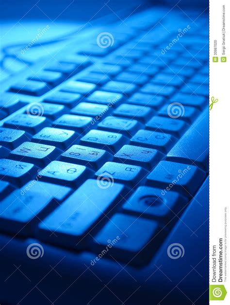 computer keyboard light up keys computer keyboard in blue light stock photo image 33987020