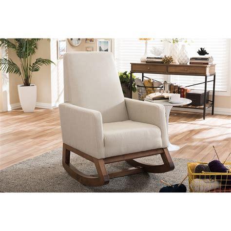 baxton studio rocking chair yashiya baxton studio yashiya mid century retro modern light beige