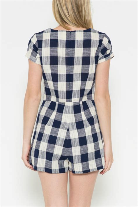 Gingham Romper by Esley Collection Sweet Gingham Romper From Florida By