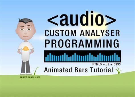 javascript tutorial audio custom audio control analyser bars animation html5 audio