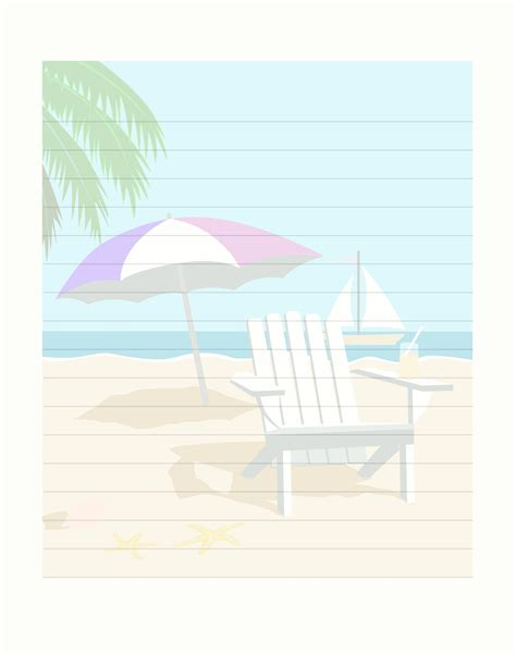printable seaside templates free printable beach stationary stationery