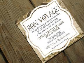 bon voyage going away invitation moving by travelerspaperie