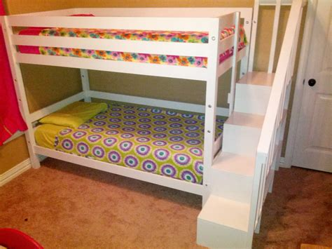 ana white bunk bed ana white classic bunk bed with sweet pea stairs diy