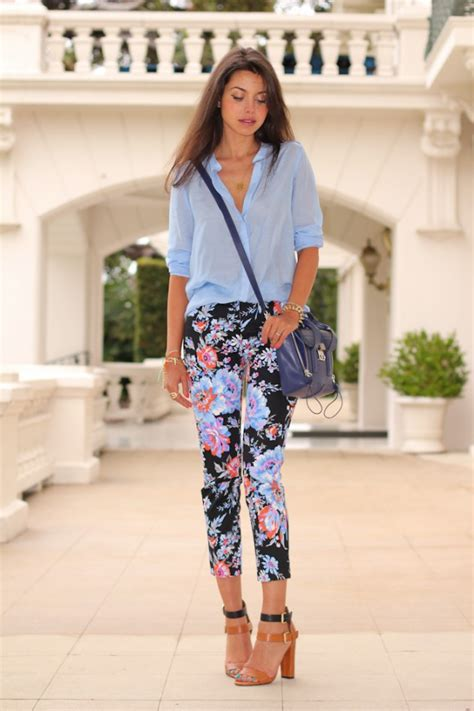 trendy outfit ideas  floral pants fashionsycom
