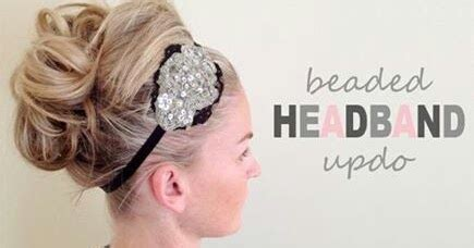 Headpiece Headpiece Roseburn Putih sumandak beaded headband updo tutorial