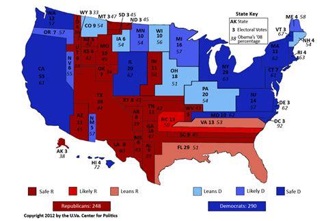 usa election map larry j sabato s 187 2012 president