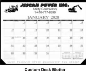 custom desk blotter calendar 187 promotional products