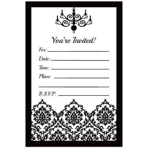 Halloween Birthday Invitations Printable Black And White Black And White Invitation Templates Free