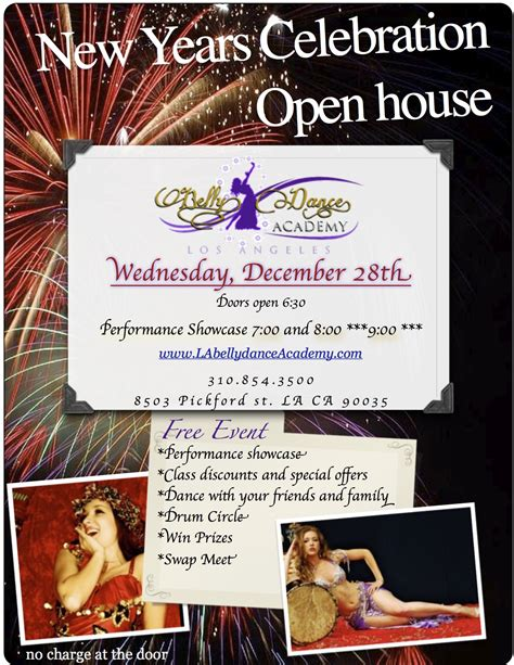 new year open house tradition open house and new year s hafla l a bellydance academy