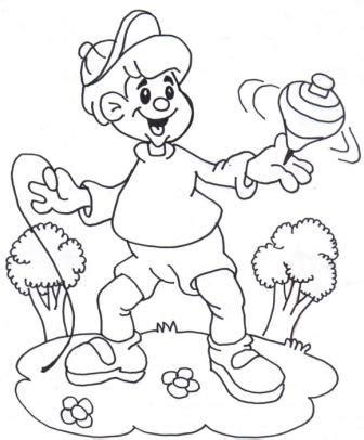 imagenes de niños jugando al trompo ni 241 o y su trompo dibujalia dibujos para colorear