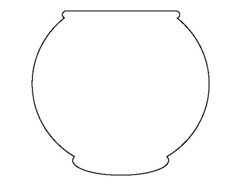 fish bowl template pin by muse printables on printable patterns at