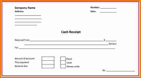 Receipt Template For Ad by 7 Excel Receipt Template Expense Report