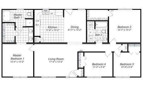 Four Bedroom House Plan by Modern Design 4 Bedroom House Floor Plans Four Bedroom