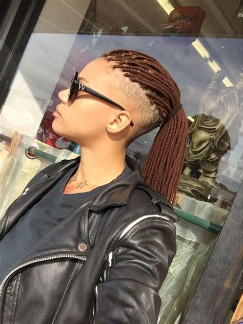 yarn braids shaved sides undercut natural hair