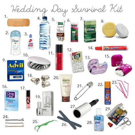 Wedding Planner Emergency Kit by Wedding Day Bridal Emergency Kit