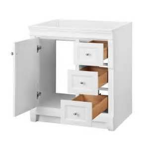 Foremost Naples Vanity White by Foremost Naples 30 In W X 21 7 8 In D X 34 In H Vanity