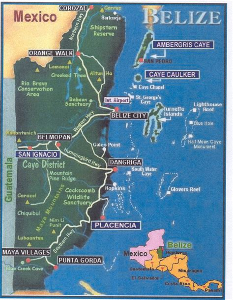 map of mexico and belize vacation plans 3 nights in san ignacio 3 nights in