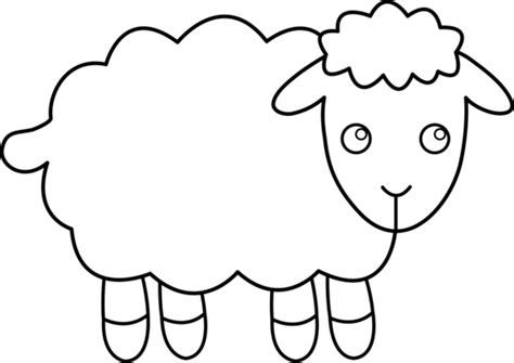 Best Lamb Clipart #20545 - Clipartion.com Lamb Black And White Clipart