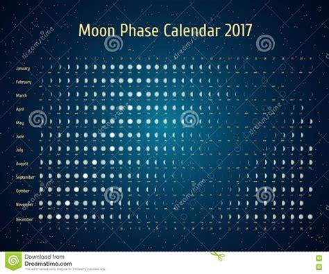 Calendã Fases Da Lua 2017 Vector Astrological Calendar For 2017 Moon Phase Calendar