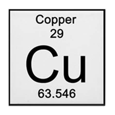 Cu On Periodic Table by Periodic Table Copper Coasters Cork Puzzle Tile