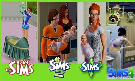 the sims the sims 4 pregnancy and childbirth vs sims 3 vs sims 2 vs