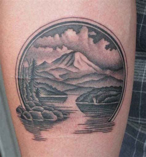 river tattoos 20 scenic landscape tattoos tattooblend