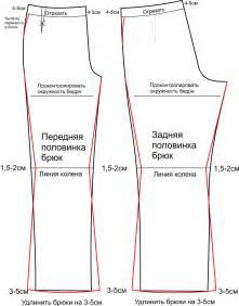 выкройка брюк подростковых брюк