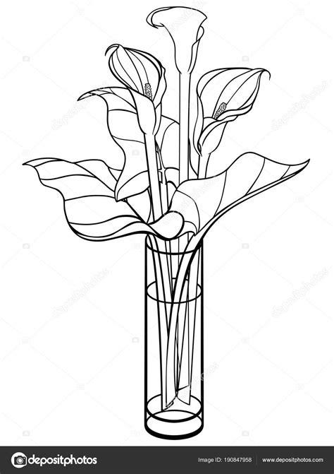 vaso con fiori da colorare vaso fiori disegno