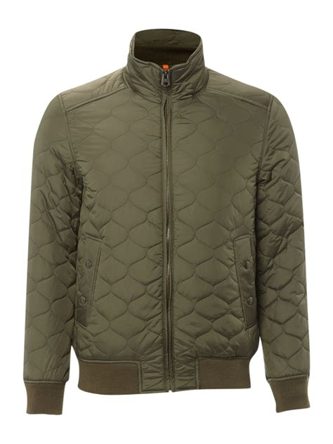Bomber Quilted Jacket by Dockers Quilted Bomber Jacket In Green For