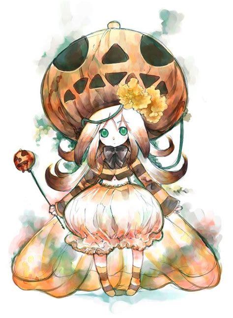 imagenes halloween chica anime halloween anime girl