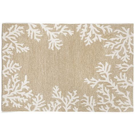 Neutral Rugs Coral Border Neutral Rug Indoor Outdoor Rug