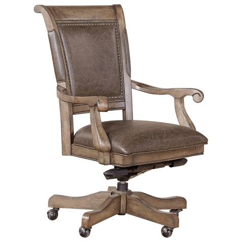 upholstered desk chair with arms aspenhome arcadia office arm chair with upholstered seat