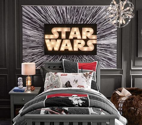 Wars Bedrooms by Wars Hyperdrive Mural Pottery Barn