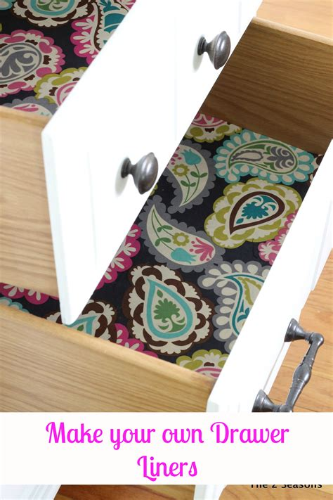 making fabric drawer liners diy drawer liners