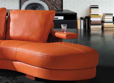 bean shaped sofa modern sectional sofa 7 orange