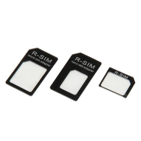 Murah Noosy Nano Sim Adapter For Micro Nano Sim Adapter Black noosy nano sim adapter set