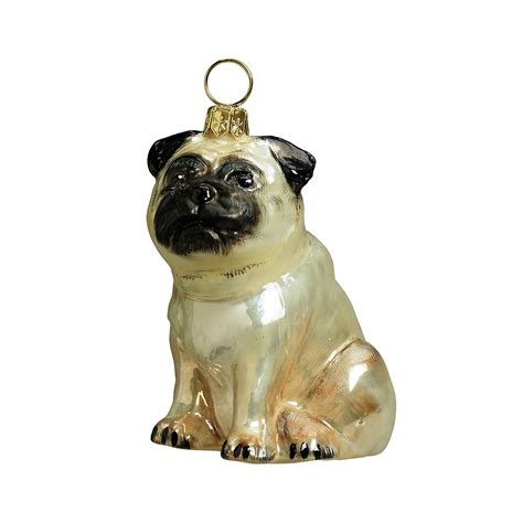 pug fawn christmas ornament gump s
