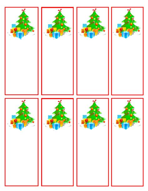 7 best images of printable holiday bookmarks free