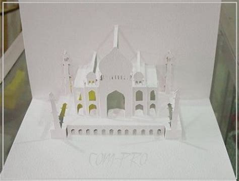 taj mahal pop up card template pdf kirigami taj mahal cake ideas and designs