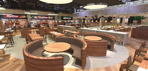 shopping centre interior design food court branding